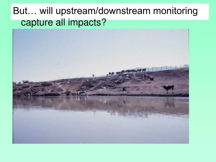 But… will upstream/downstream monitoring capture all impacts?