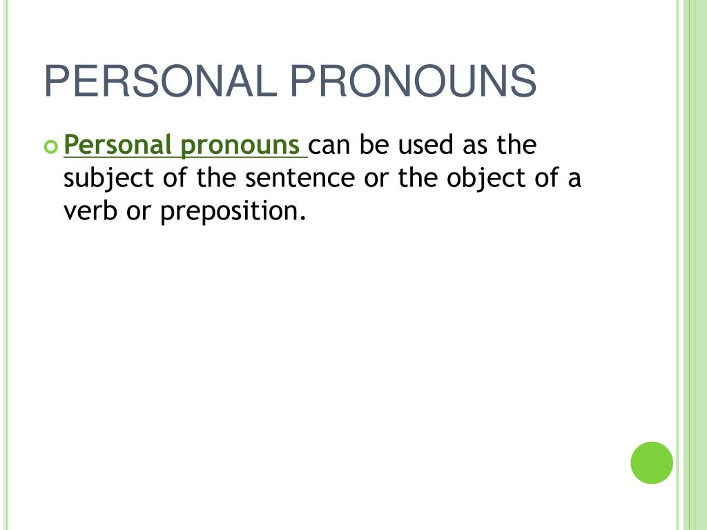 PPT - PRONOUNS PowerPoint Presentation, free download - ID ...