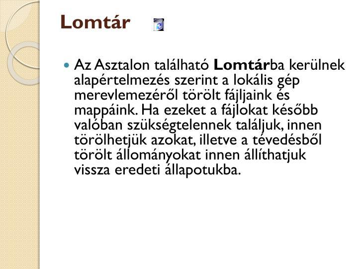 Lomtár
