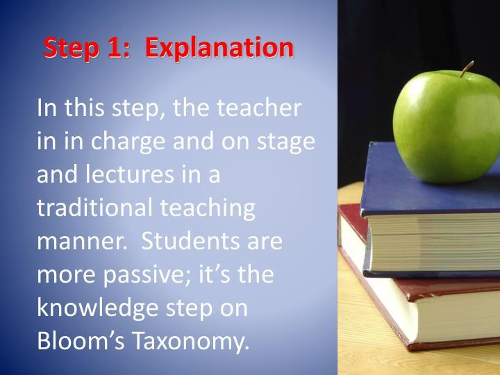 Step 1:  Explanation