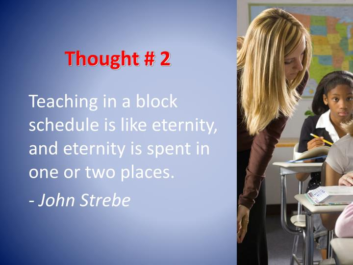 Thought # 2
