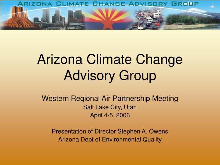 arizona climate change advisory group n.