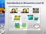 introduction to biometrics cont d2
