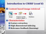 introduction to cbirf cont d