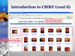 introduction to cbirf cont d1