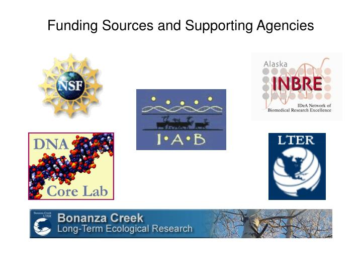 Funding Sources and Supporting Agencies