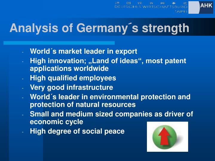 Analysis of Germany´s strength