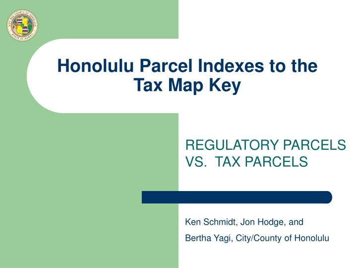honolulu parcel indexes to the tax map key n.