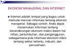 ekonomi manajerial dan internet