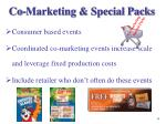 co marketing special packs
