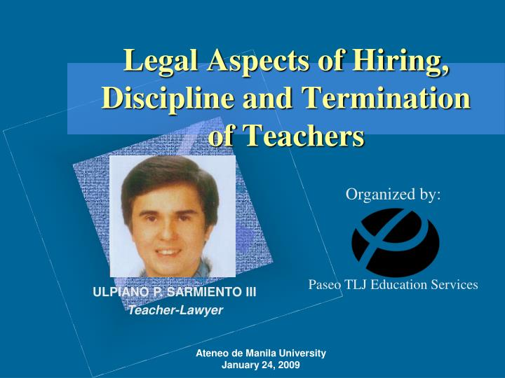 legal aspects of hiring discipline and termination of teachers n.