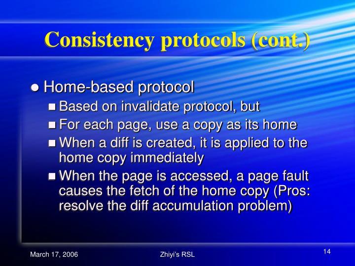 Consistency protocols (cont.)