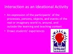 interaction as an ideational activity