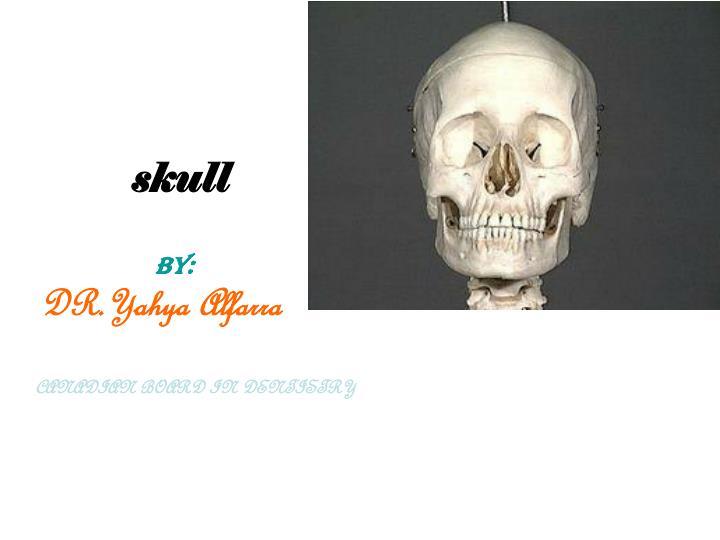 skull by dr yahya alfarra canadian board in dentistry n.