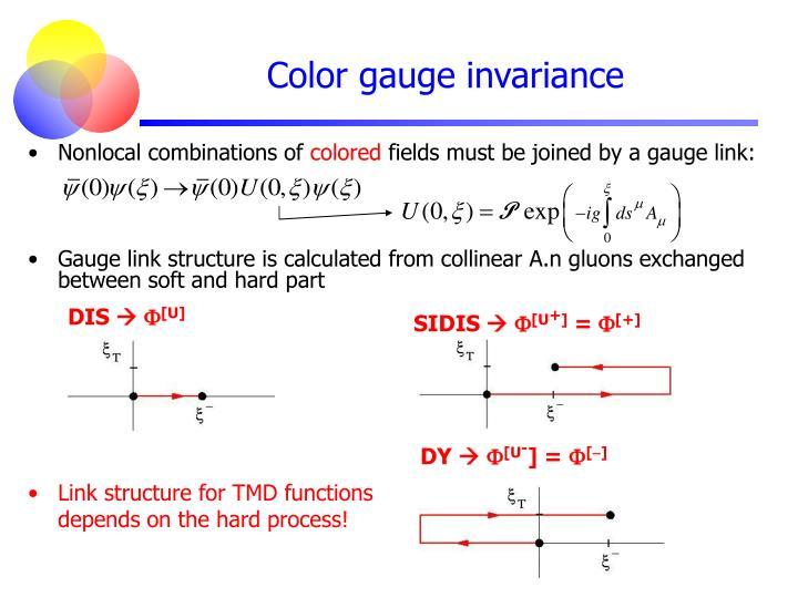 Color gauge invariance