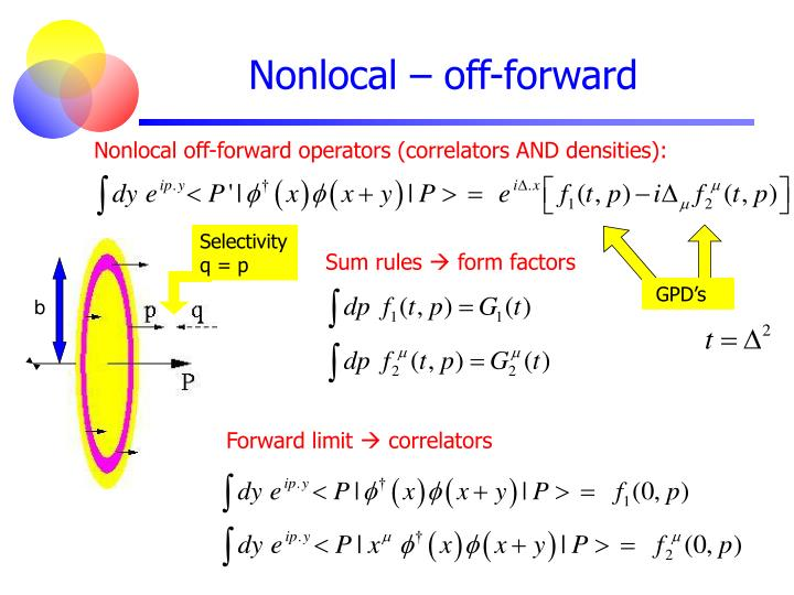 Nonlocal – off-forward