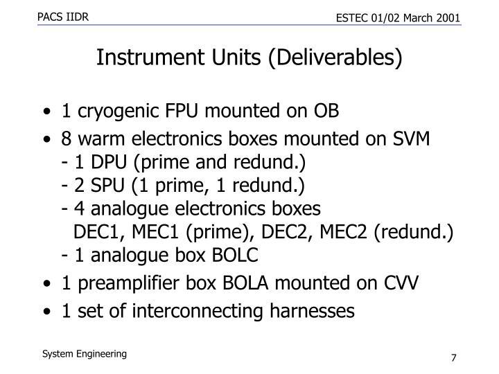 Instrument Units (Deliverables)