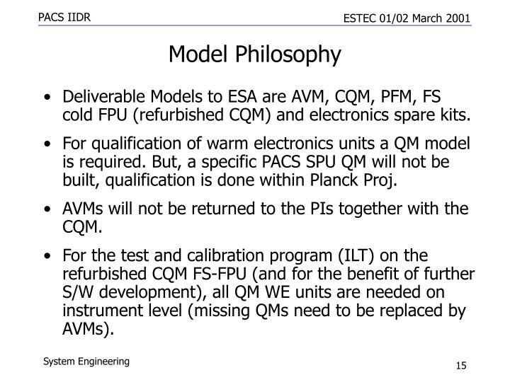 Model Philosophy