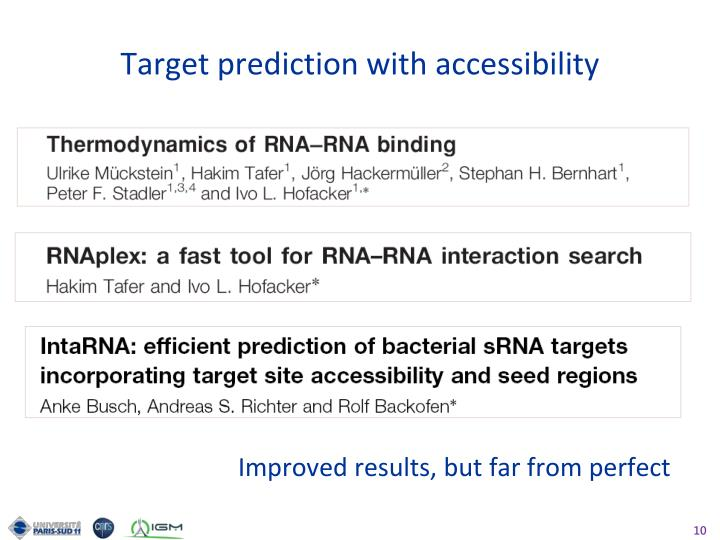 Target prediction with accessibility
