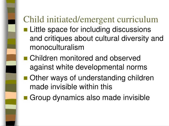 Child initiated/emergent curriculum