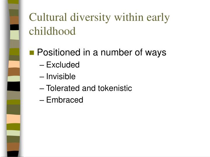 Cultural diversity within early childhood