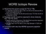 morb isotope review