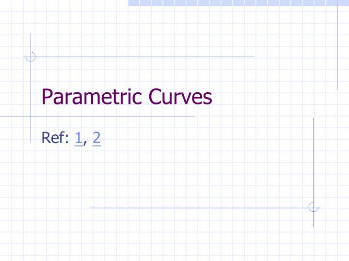 parametric curves n.