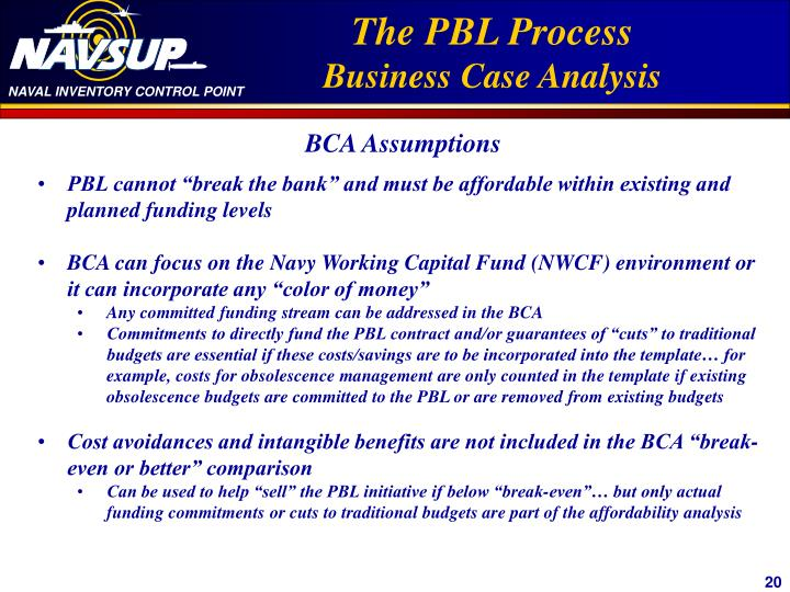 """PBL cannot """"break the bank"""" and must be affordable within existing and planned funding levels"""