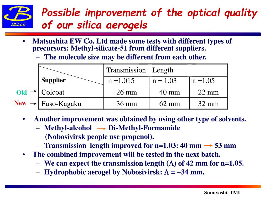 PPT - Possible improvement of the optical quality of our silica