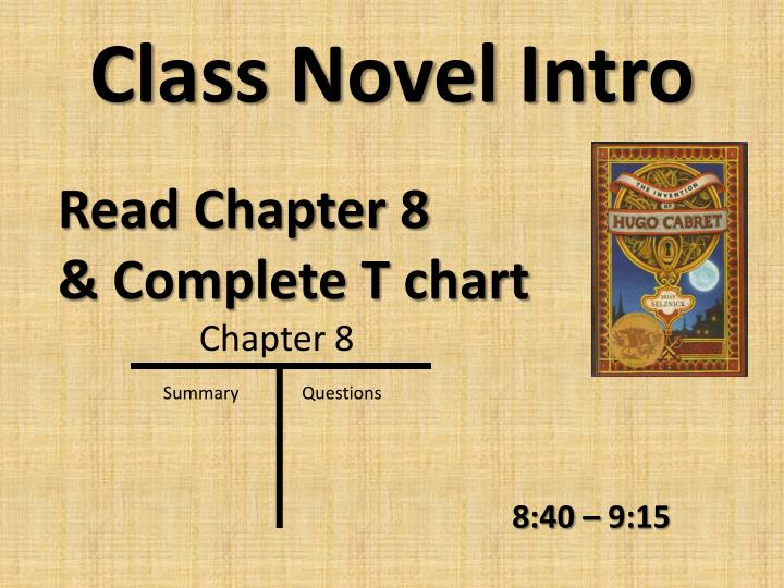 Class novel intro