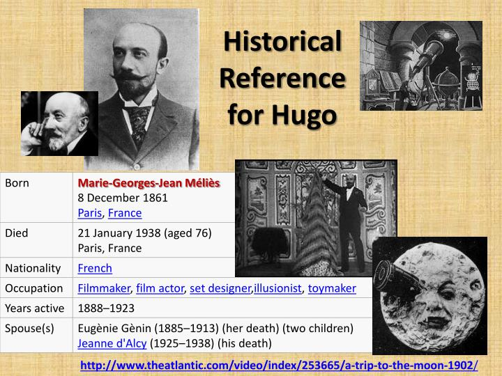 Historical Reference for Hugo