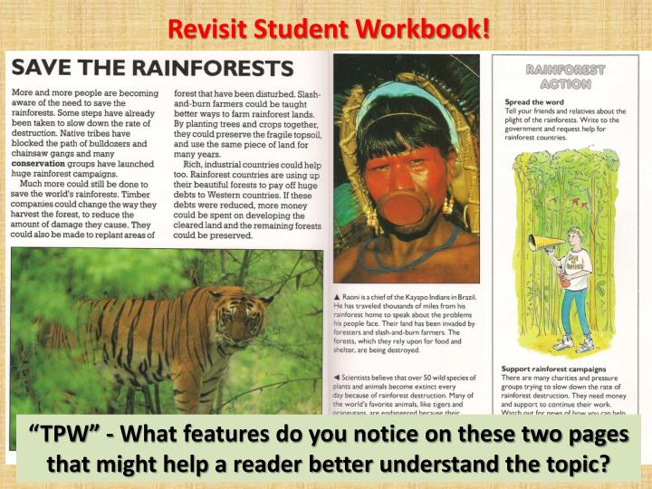 Revisit Student Workbook!