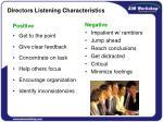 directors listening characteristics