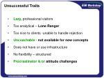 unsuccessful traits