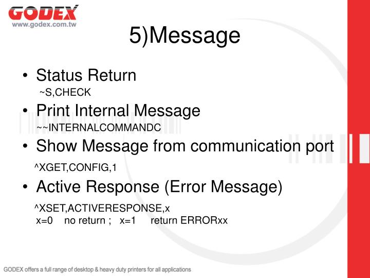 5)Message