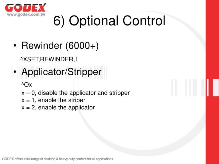 6) Optional Control