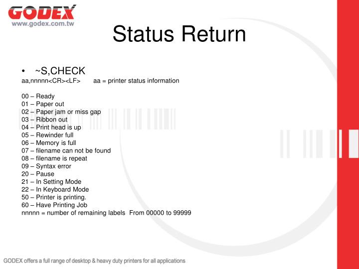Status Return