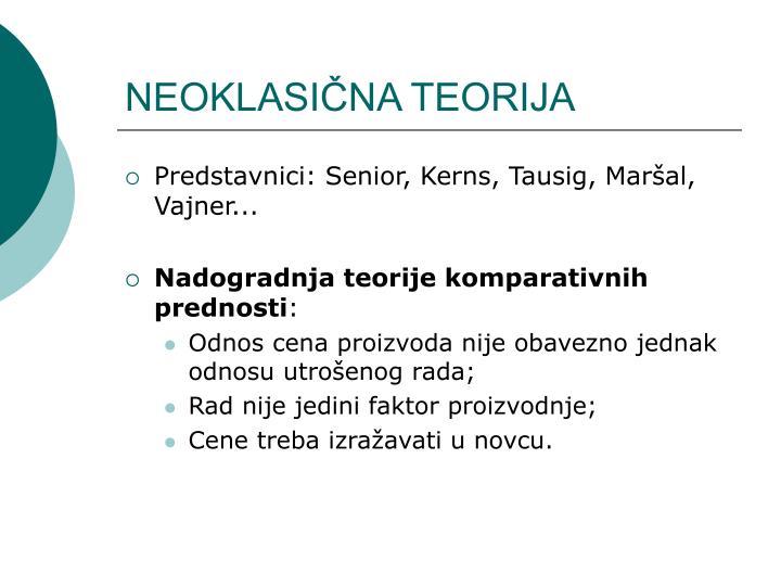 neoklasi na teorija n.