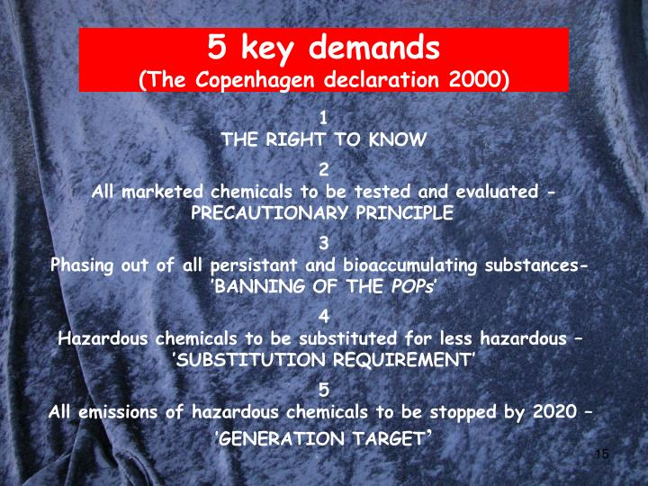 5 key demands