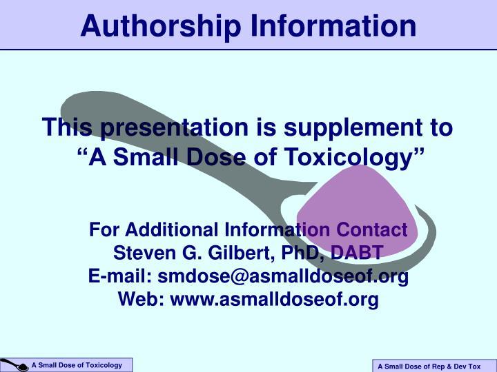 Authorship Information