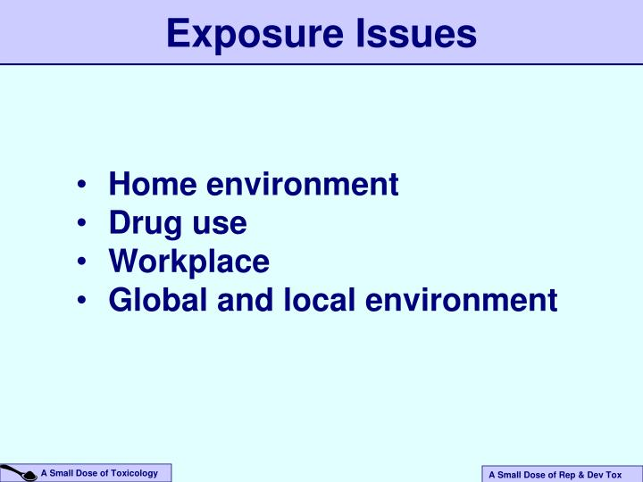 Exposure Issues