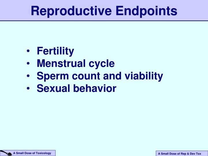 Reproductive Endpoints