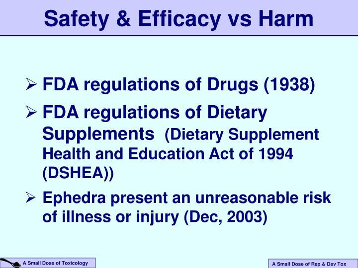 Safety & Efficacy vs Harm