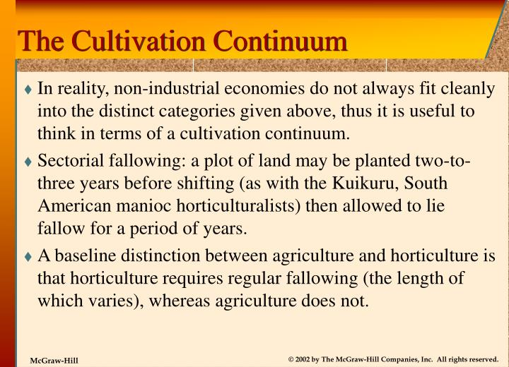 The Cultivation Continuum