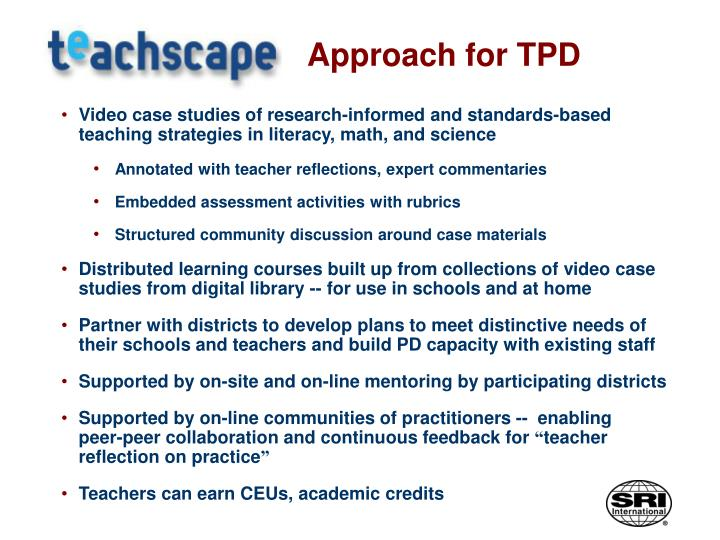 Approach for TPD