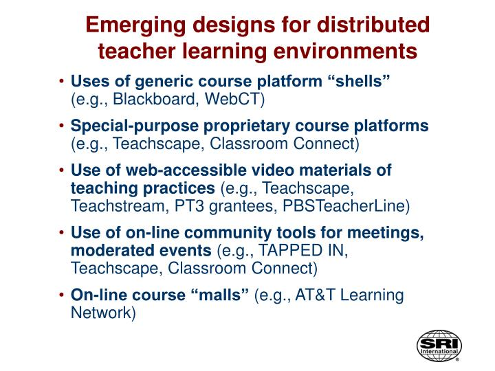 Emerging designs for distributed