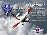air operations branch director course