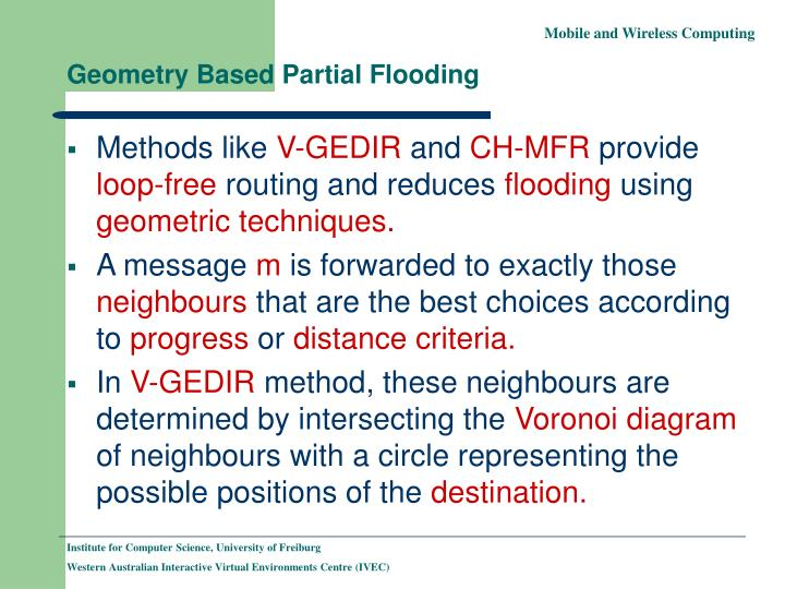 Geometry Based Partial Flooding