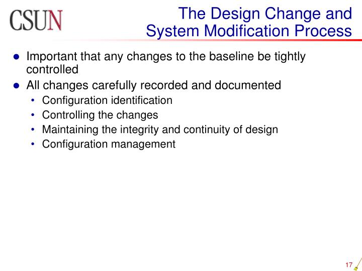 The Design Change and
