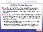 slac s timing systems